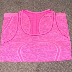 Lululemon pink swiftly tank